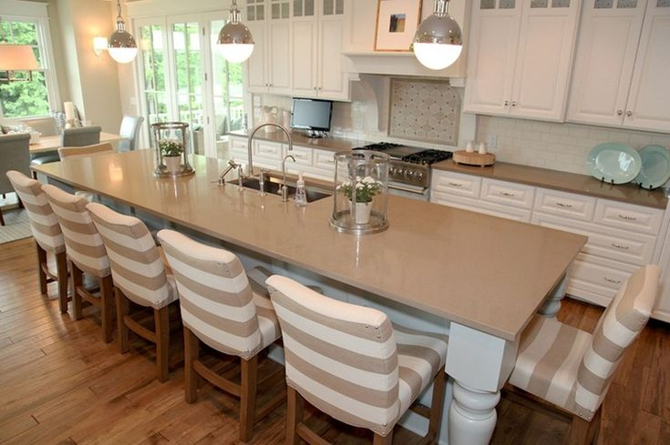 Transitional Kitchen By Dwellings Love The Large Island