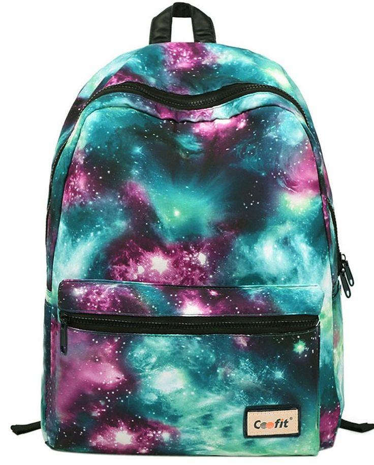 Galaxy Vintage beiläufigen Schule Rucksack Casual Daypack: Amazon.de: Schuhe & Handtaschen