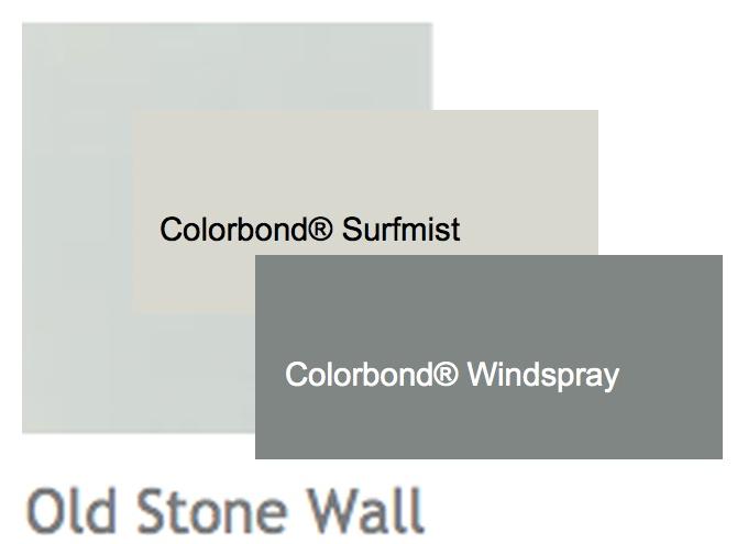 Render - Porters Old Stone Wall | Windows & Trim - Surfmist | Roof - Windspray
