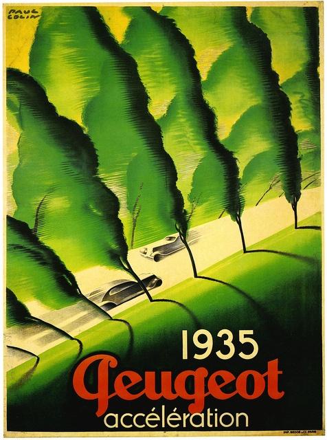 Paul Colin, Automobile Poster, France, 1935