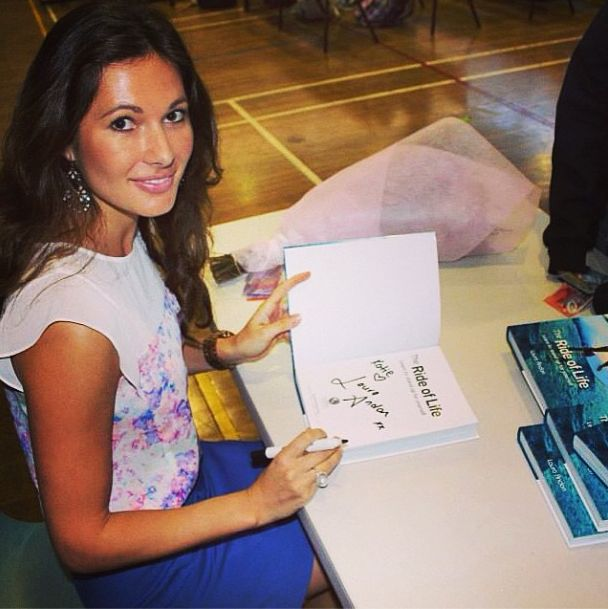 Signing copies for some beautiful young women. Northern Beaches, NSW