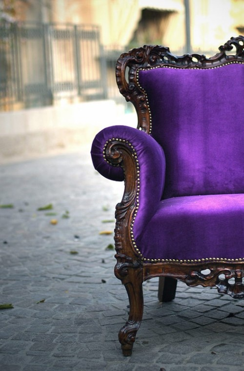 Want. : Idea, Purple Velvet, Color, Dream, Chairs, Purple Chair, Purple Passion, Furniture