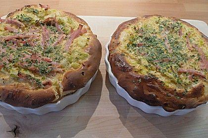 Lauch - Schinkenpizza (Rezept mit Bild) von plumbum   Chefkoch.de