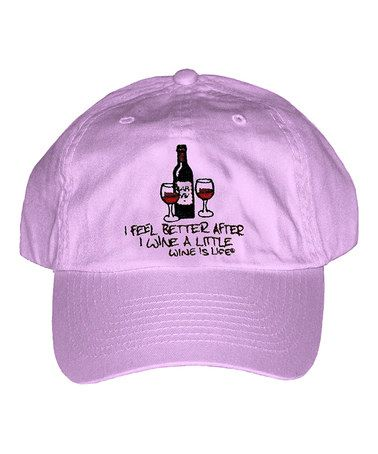 This Lilac Little Wine Baseball Cap is perfect! #zulilyfinds