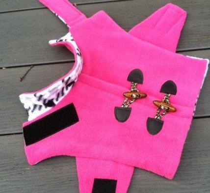 Dog Fleece Pink Pea Coat Dog Jacket Dog Coat от CustomDogJacket