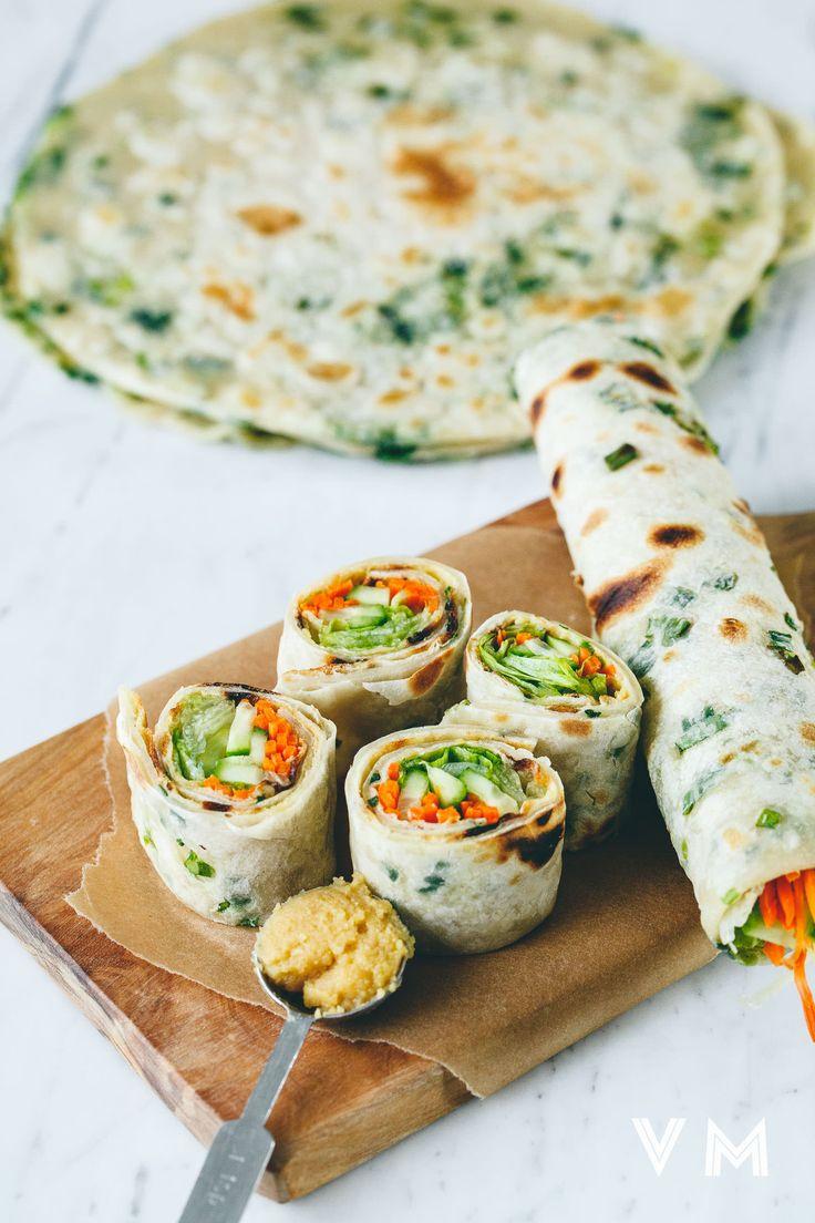 Vegan Taiwanese Scallion Pancake Rolls. Made Just Right. Plant Based. Earth Balance.