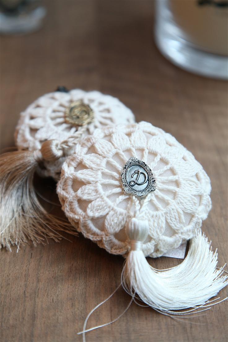 Dantell lavander Bag handmade lace