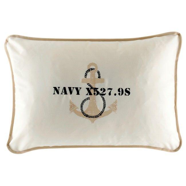 ANCHOR ecru set of 2 cushions 40x60
