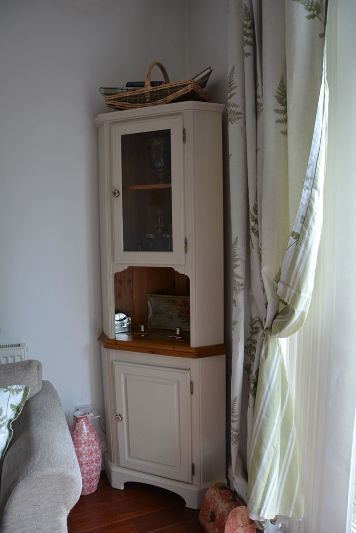 Ducal pine corner cabinet hand painted with Autentico Cocos. www.inheritedgracedecor.co.uk