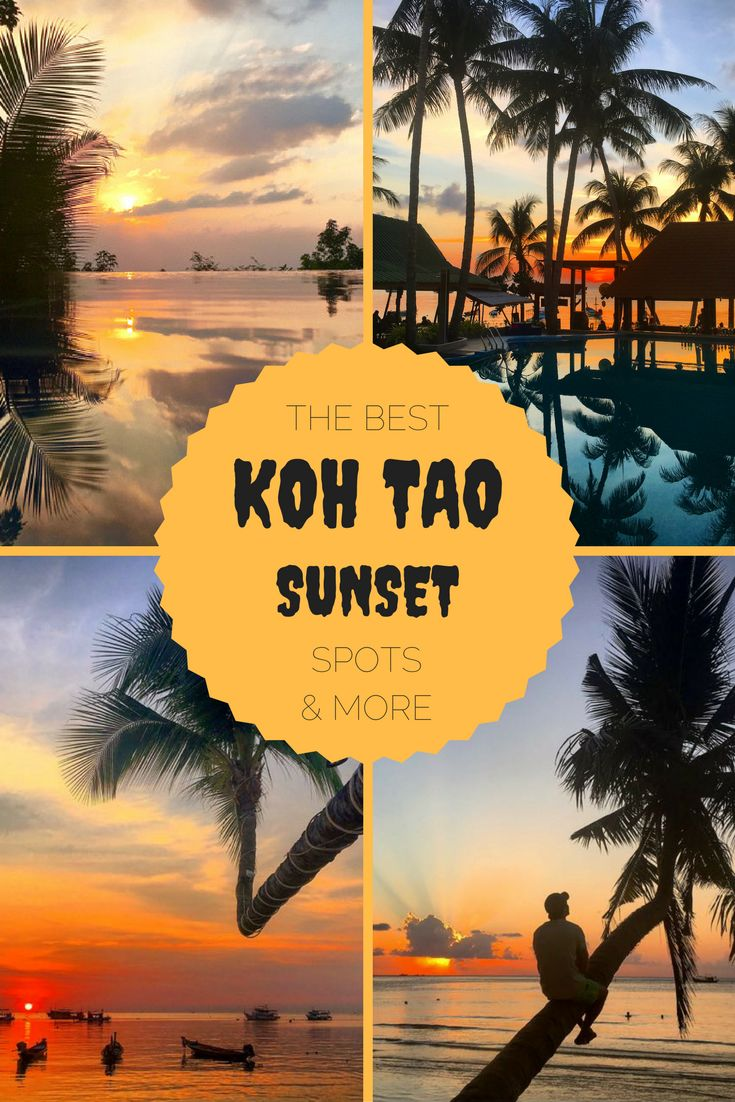 Koh Tao sunsets are magnificent! Dont just stay on Sairee Beach to watch them, which is pretty good I know, but there are more spots! Explore the island with these best things to do in Koh Tao.