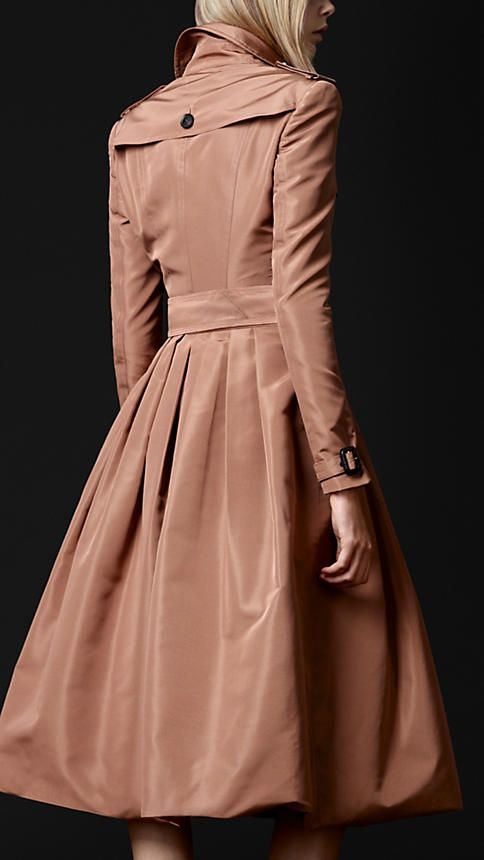 Burberry - SILK BLEND TRENCH COAT