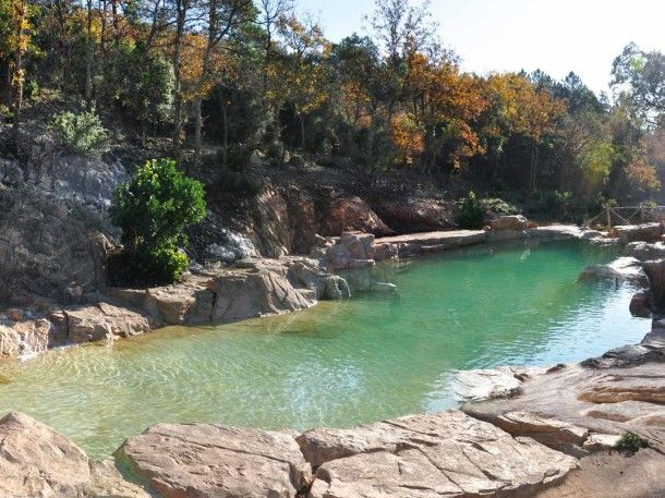 Vodní Piscine Naturelle bazén - obrázky, fotografie, obrázky