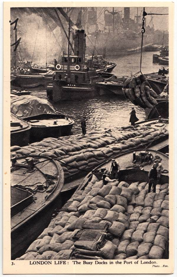 Docks at the port of London