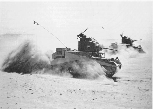 North African Campaign | M3 Stuarts on the move.