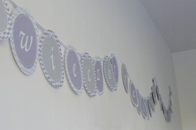 Wieczór Panieński - szablon w fioletowo-szary zygzak - Słodka Pracownia - Przepisy | Dekoracje | Przyjęcia