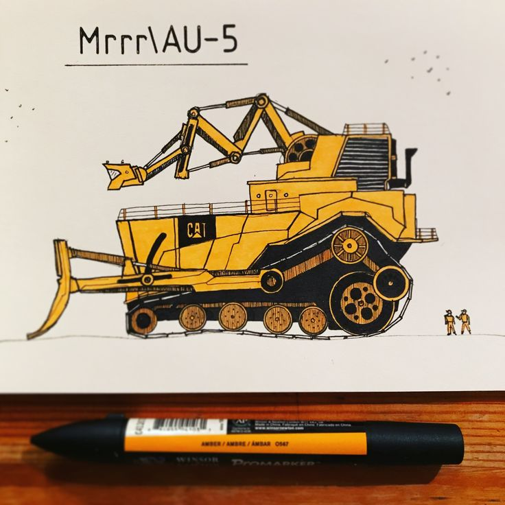 Mrrr/AU-5 is strong, monster bulldozer which is very helpful to any heavy construction work.  Check more #tinymachinery #sketch on TinyMachinery instagram :)