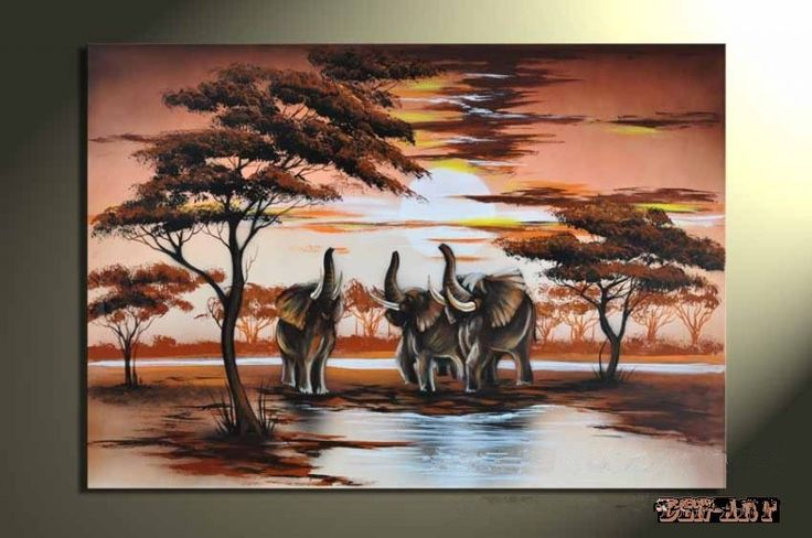 Canvas Paintings African Landscape Wall Art Canvas Oil