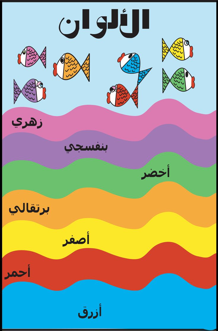 colors poster in arabic my arabic posters for kids arabic lessons learning arabic arabic. Black Bedroom Furniture Sets. Home Design Ideas