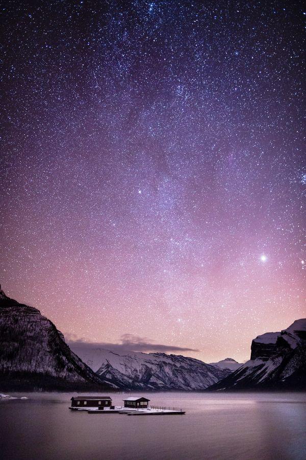 Lake Minnewanka and the Milky Way by Patrick Latter, via 500px