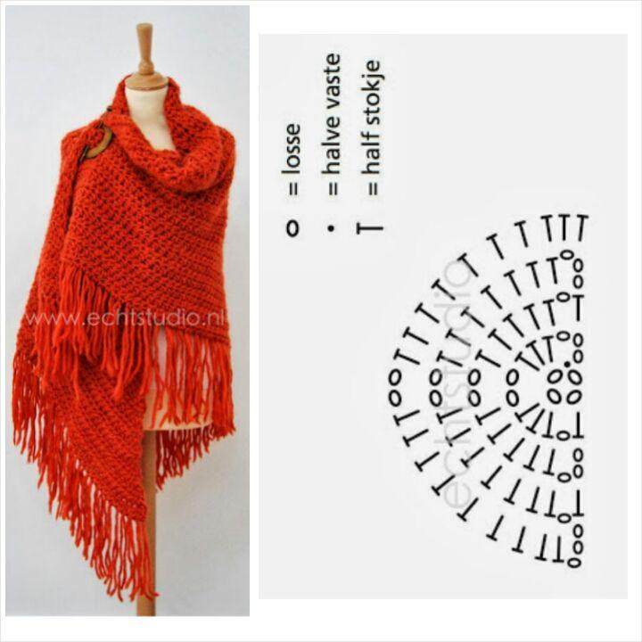 This beautiful shawl comes free from the dutch site echtstudio http://www.echtstudio.nl/gratis-haakpatroon-omslagdoek-4298.html