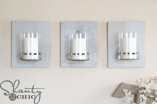 Diy Wall Sconces For Candles : 129 best images about DIY/Lighting on Pinterest Homemade candles, Credit card points and Wall ...