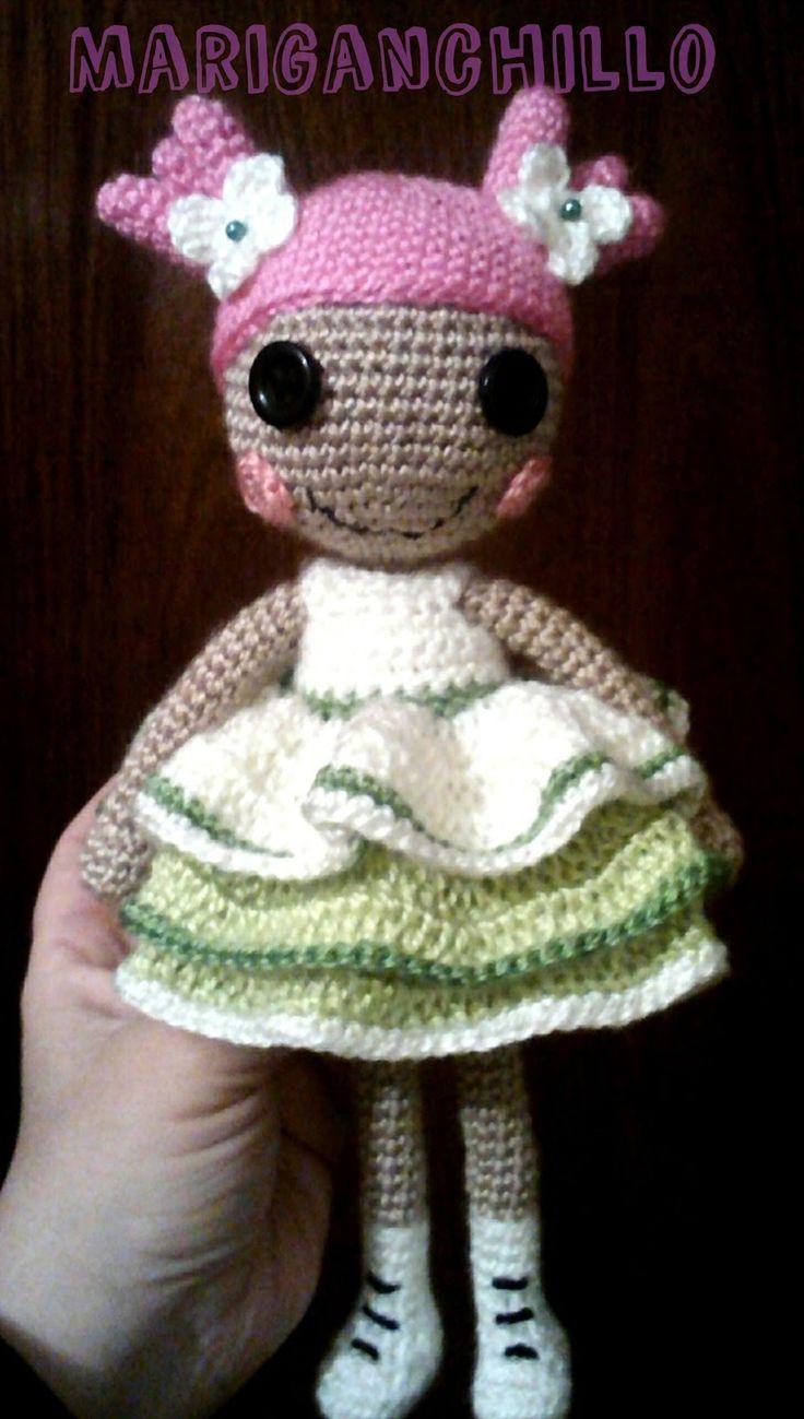Feliz año!! Comenzamos este 2016 con el patrón de esta muñeca Lalaloopsy!! Espero que te guste esta muñeca a mi me encantó hacerla y no d...