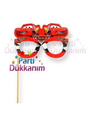 Cars Çubuklu Parti Gözlüğü