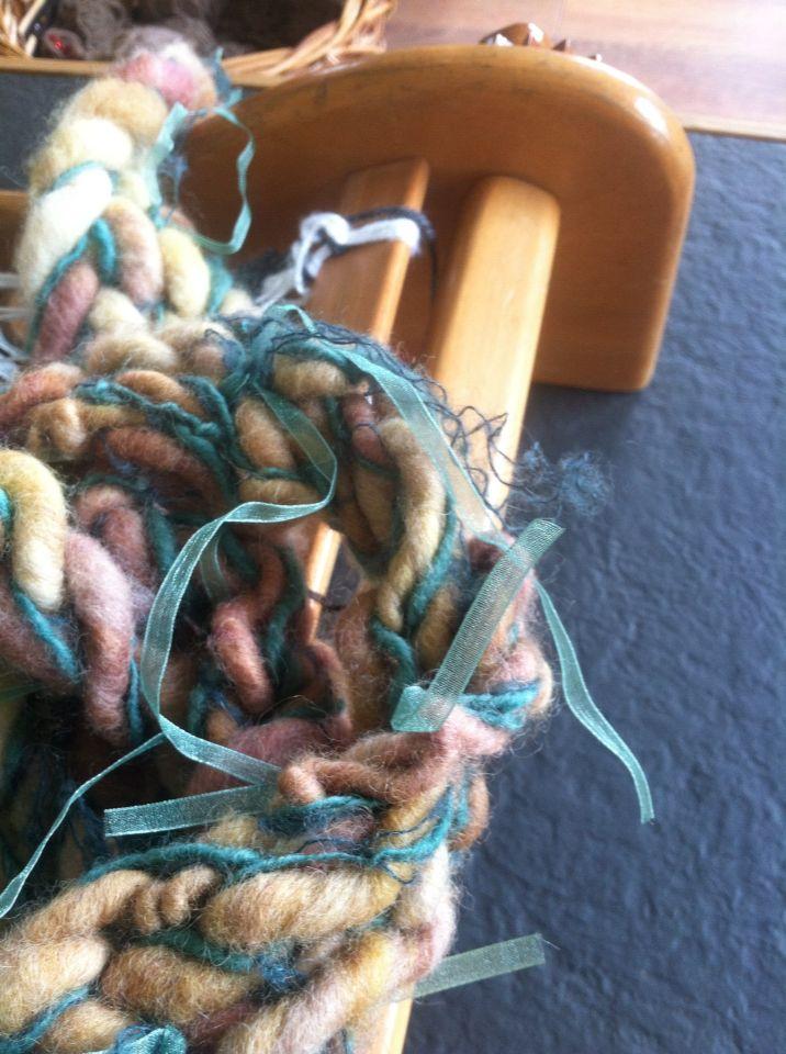 Bufanda lana y cinta