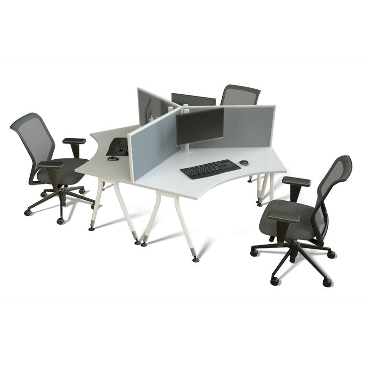 Simple 120 Degree Workstations  DDK Commercial Office Furniture