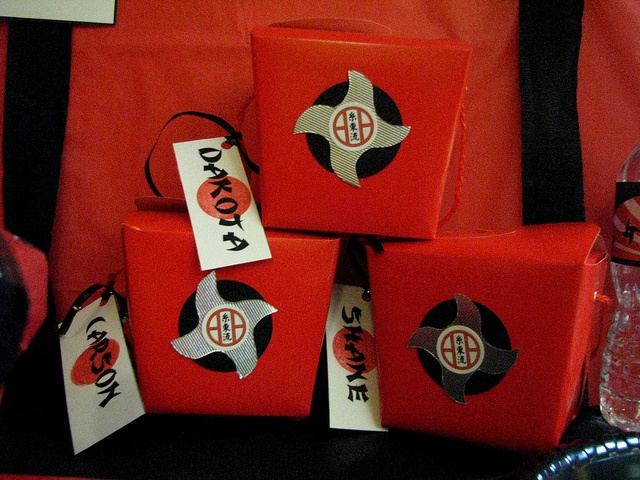 Favor takeout boxes NInja Party