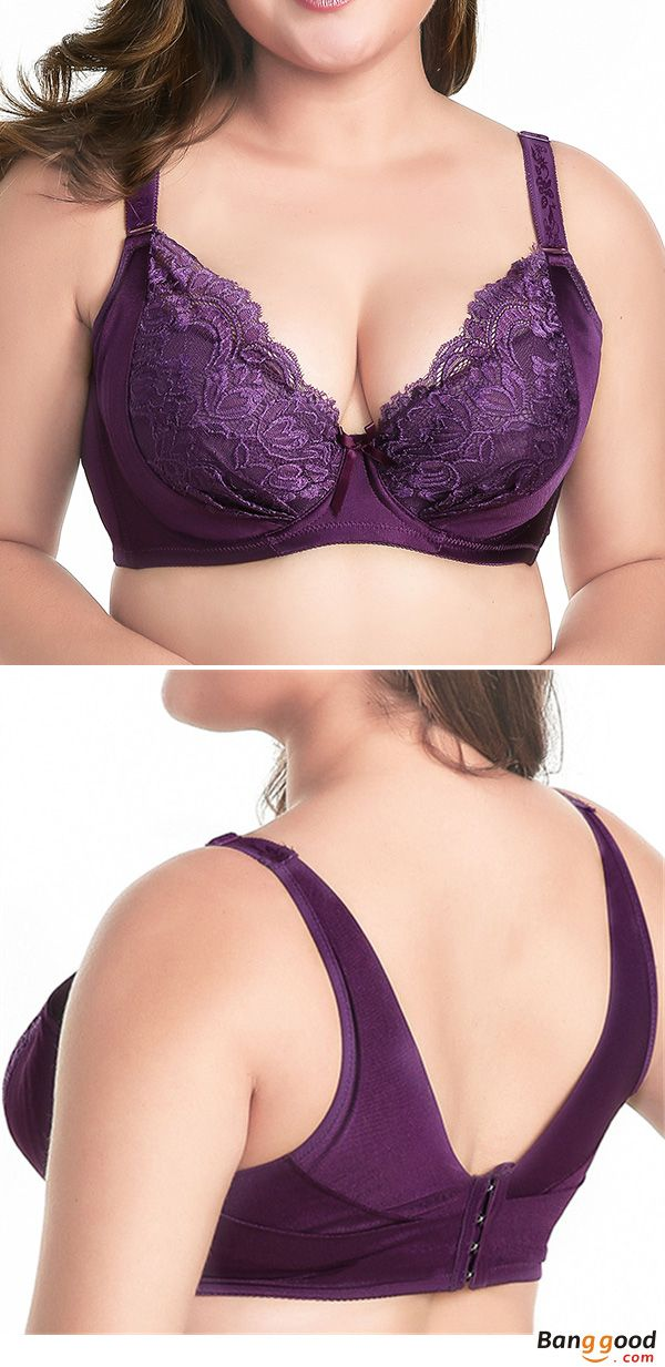 09159eae5684f Push Up Thin Breathable Deep Plunge Gather Bras. Lace Embroidery ...