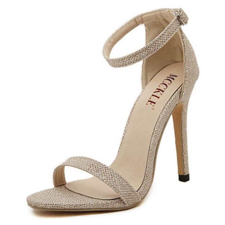 Gold Elegant High Heel Shoes