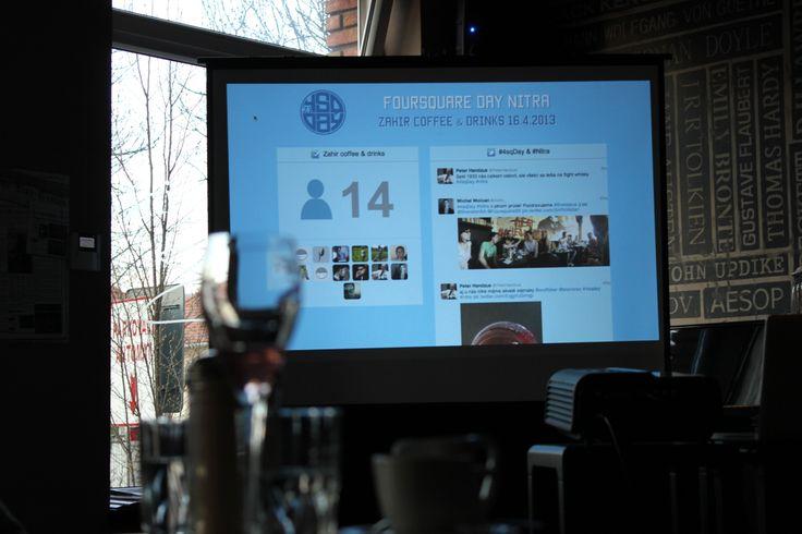 Social board @ Foursquare Day Nitra 2013 #socialmedia #slovakia #4sqsk