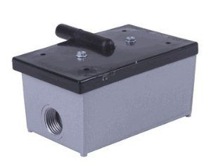 Commercial Garage Door Opener Normally Open Air Switch by Denco. $28.00. Commercial Garage Door Opener Normally Open Air Switch Exterior 2 wire switch in metal box Recommended for use with Driveway treadle hose