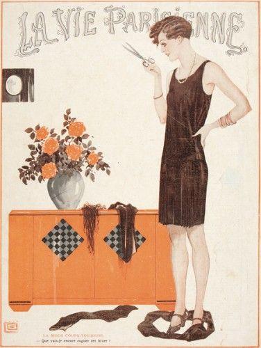 Original magazine cover from La Vie Parisienne published Paris, 1925.