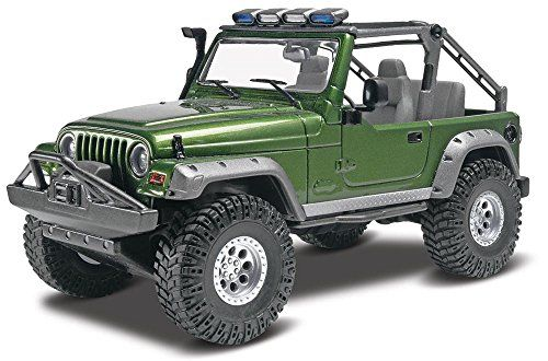 Revell Jeep Wrangler Rubicon Plastic Model Kit  This kit features a roll over bar with detail lightsWorking spring suspension and large off-road tiresIncludes waterslide decals and paint guide  http://good-deals-today.com/product/revell-jeep-wrangler-rubicon-plastic-model-kit/