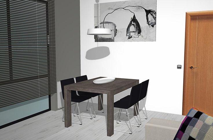 Ahora podemos ver la mesa de comedor que tenemos que es el for Que poner en una mesa de comedor