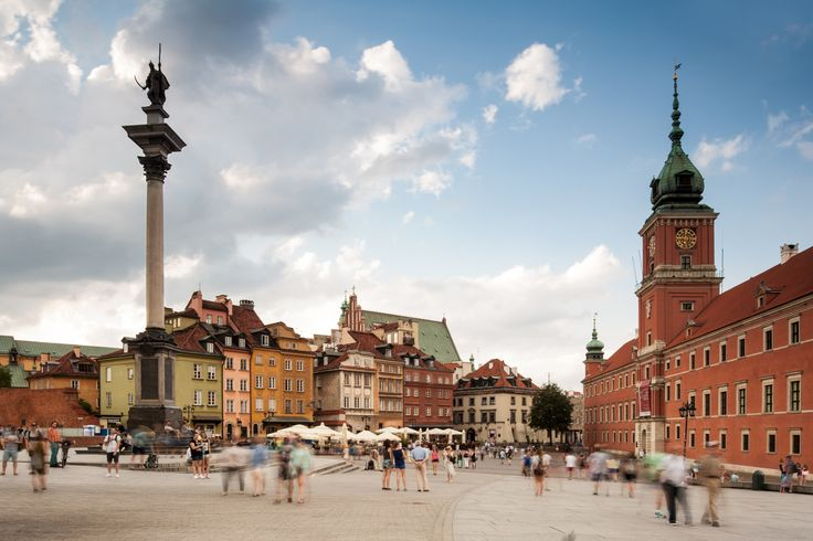 Castle Square, Warsaw, Poland - Zygmunt's Column (left), Royal Castle (right). For more architectural photos go to http://www.danielciesielski.com/