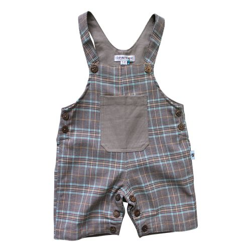 Daisy and Moose French Plaid Overalls