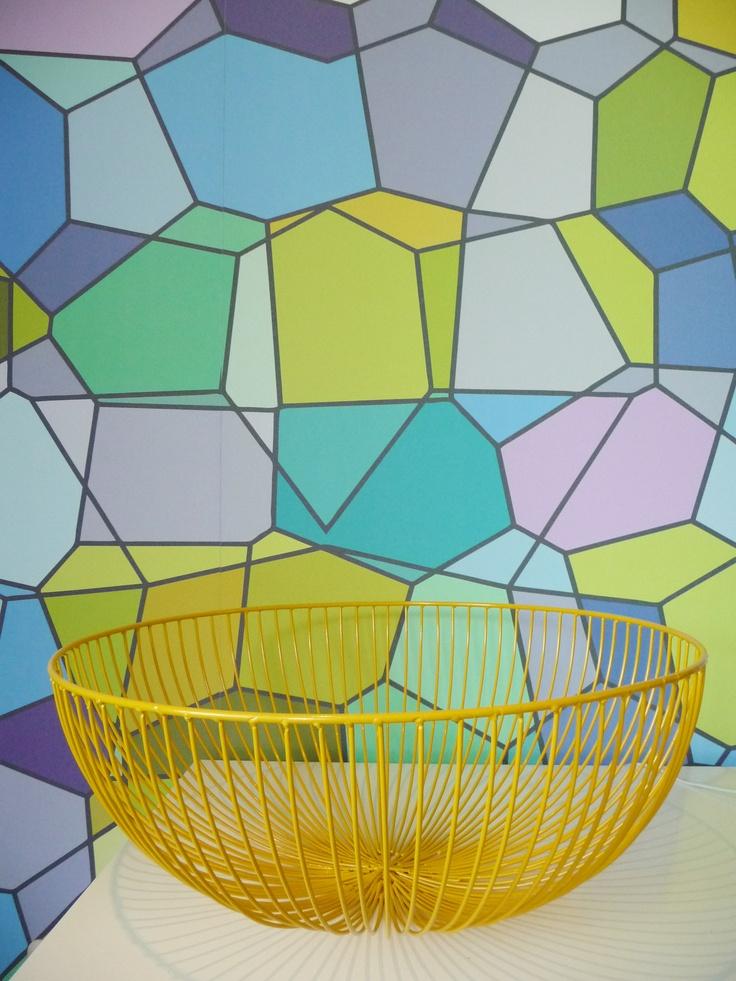 Kleurrijk detail. #colourfull #yellow #eijffinger interieurontwerp door Daphne van der Knijff-Looman van #VDKL