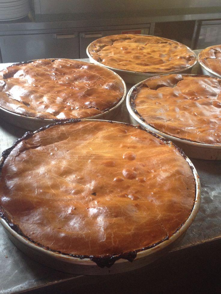 Freshly baked apple pies