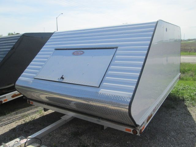 3b8c06d8e1a6f7d5ae29e27c214b179c snowmobile trailers exterior sold!! 8152 12' x 101' white 2013 features screwless exterior  at creativeand.co