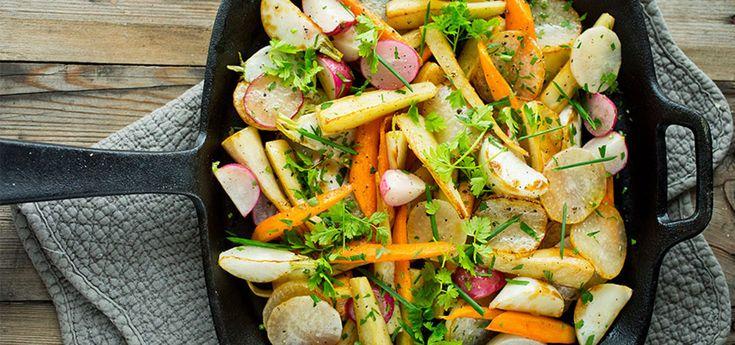 Stekte grønnsaker  Sunt og godt  Oppskrift på Lises blogg