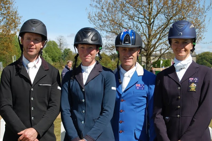The Australian Team - L - R Kevin McNabb, Emma Dougal, Andrew Hoy and Lucinda Fredericks