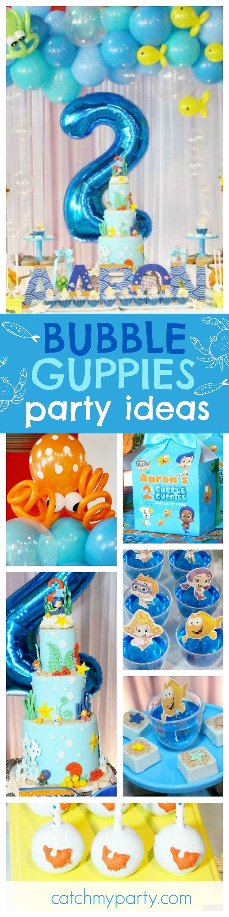 jump under the sea into this fantastic bubble guppies birthday party the cake is amazing