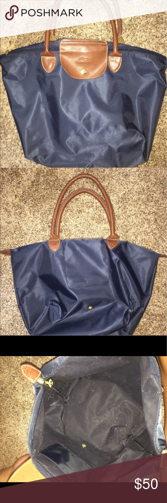 Long champ bag Small used navy long champ bag Bags Shoulder Bags