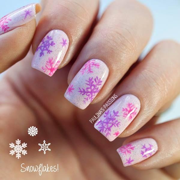 #christmas #nails #uñas #navideñas copo de nieve