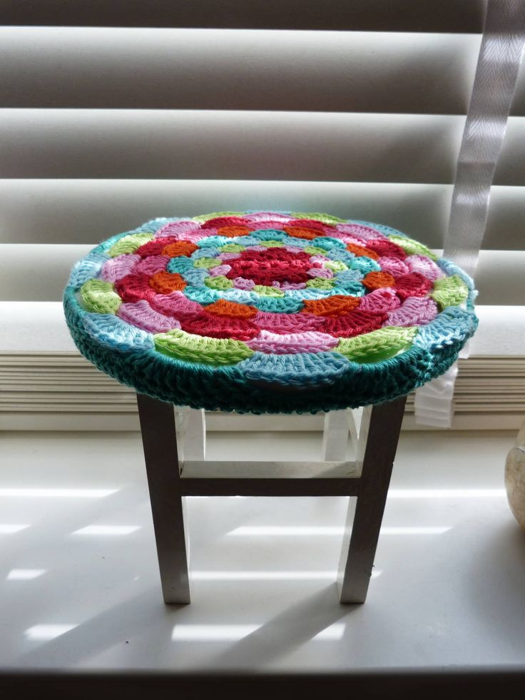 Ilona's blog: Krukje make-over, stool make over