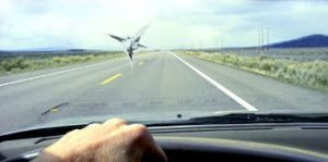 Large Rock Crack In Windshield To Be Repairred
