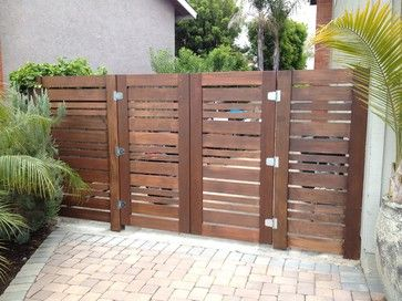Modern gates made from pallets for Wood pallet fence plans